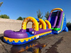 22 FT TALL SUNRISE WATER SLIDE + SLIP N SLIDE