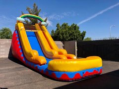 18 FT TALL RAINBOW WATER SLIDE