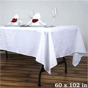 White Rectangular Linen