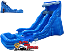 17ft Wave Single lane Water Slide with Pool 524