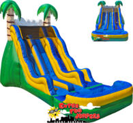 17ft Tropical Dual Lane Water Slide 518