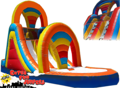 18ft Rainbow Dual Lane Water Slide 502