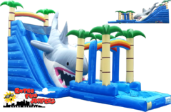 24ft Dual Lane Shark Attack Water Slide 506 & 507