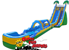 24ft Tropical Wave Single Lane Water Slide 521 & 522