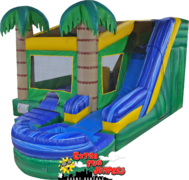 6 in 1 Tropical Combo Water Slide with Pool 247