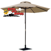 Beige Umbrella and Base