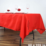 Red Rectangular Linen