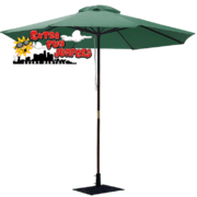 Green Umbrella and Base