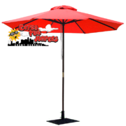 Red Umbrella and Base