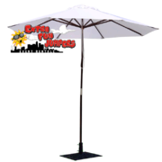 White Umbrella and Base