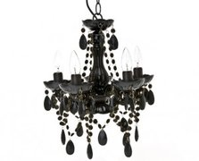 Black Chandelier with Jewels (Large)