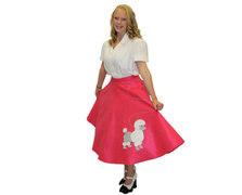 Hot Pink Poodle Skirt (113)