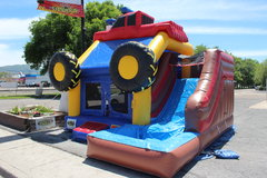 Monster Truck Bounce House and Slide Combo