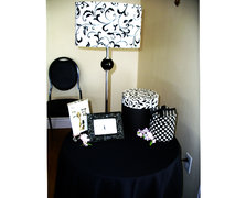 Black and White Damask Lamp