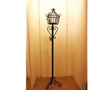 Black Standing Latern Candle Holder
