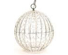 Clear Crystal Round Chandelier (Beaded)