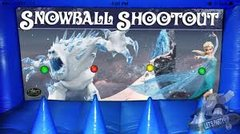 Floating Snowball Shooting Game