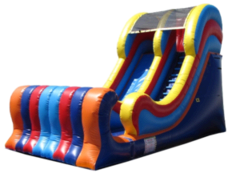 16 ft Multicolor dry slide