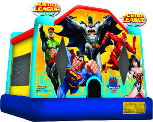 The Justice League Bounce House