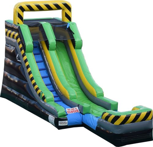 15ft Caustic Drop Water Slide