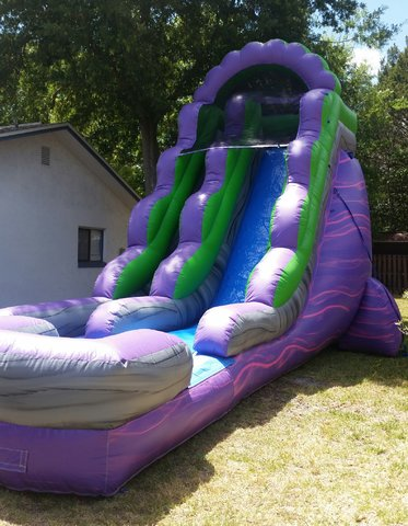 18ft. Purple Marble Dry Slide