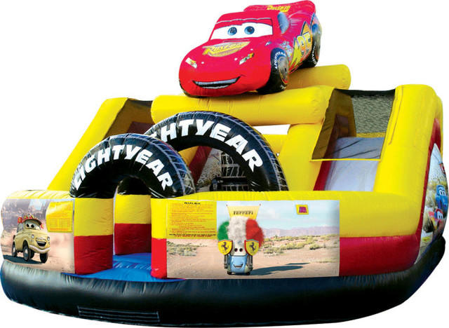 Cars Speedway with 2 WET slides & mini obstacle