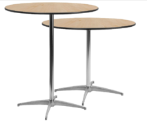 "Cocktail Table 36"" Round w/ Chairs Tall/Low Options"