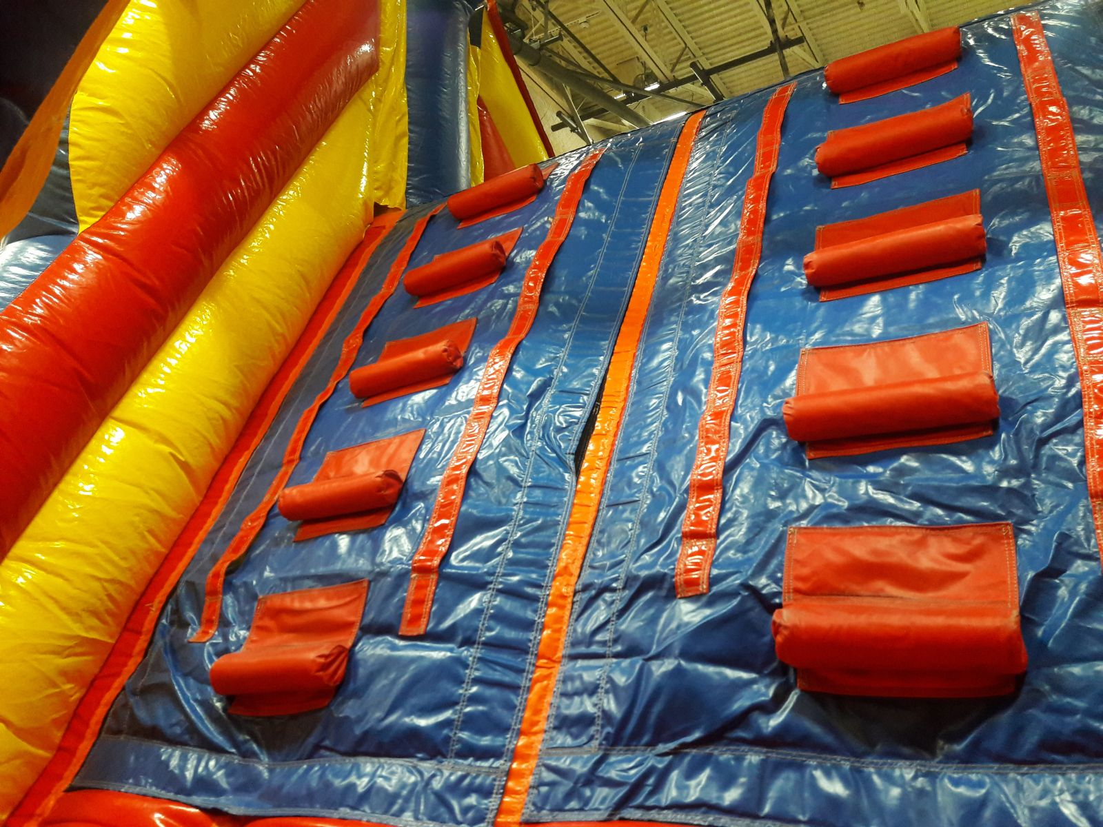 Climbing wall inside Inflatable Obstacle course