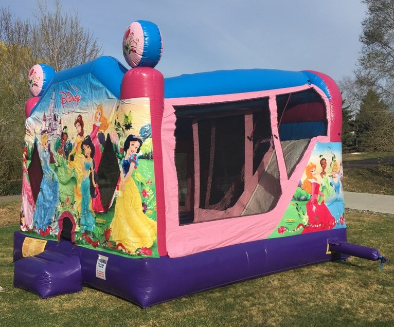 Disney Princess Combo bounce house rental with slide