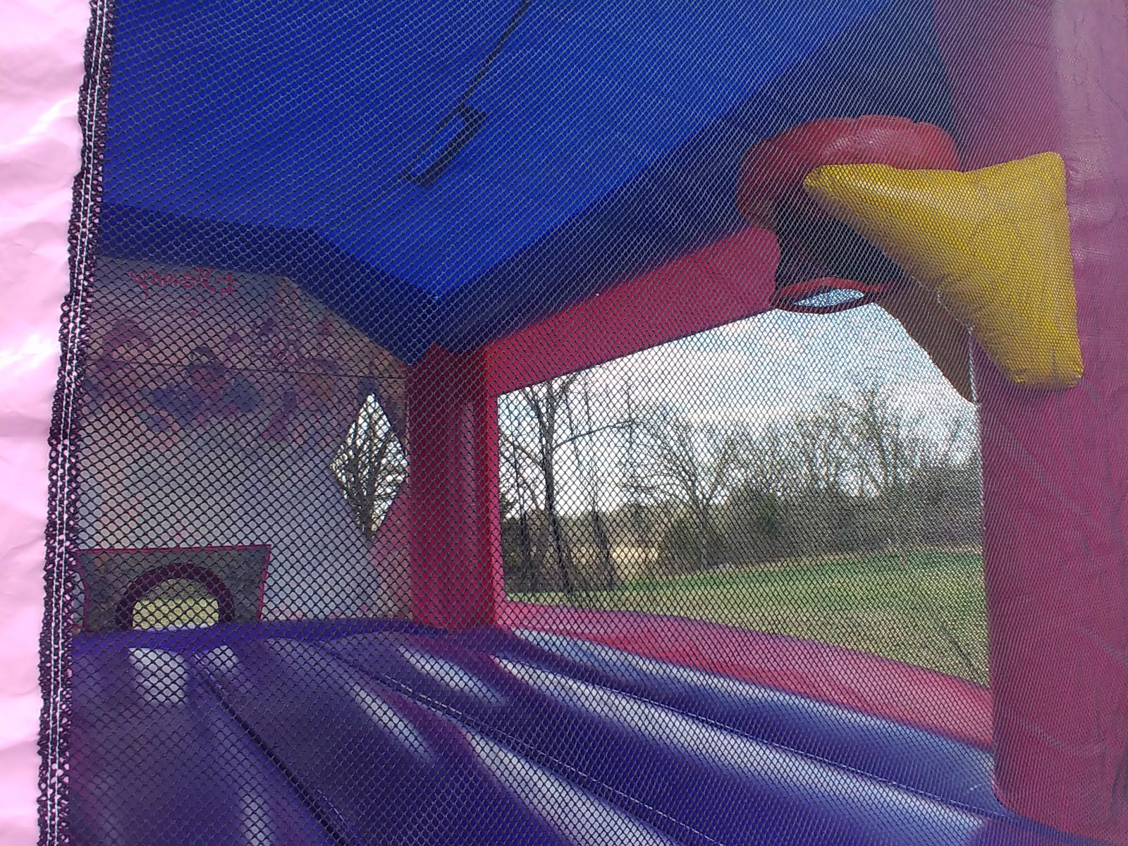 Disney Princess Combo bounce house with basketball hoop