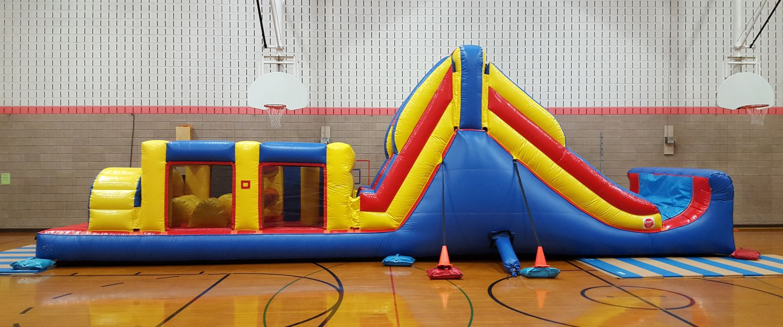 Side view of Obstacle Course