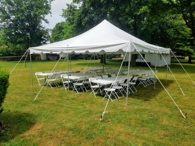 20x20 Pole Tent Package for 50