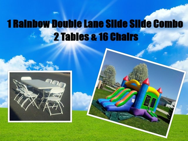 Double Lane Slide Party Package