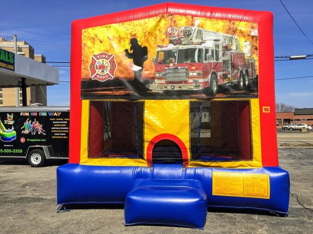 Firefighter Large Bounce House