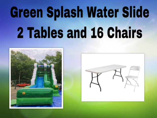 Green Splash Water Slide Party Package