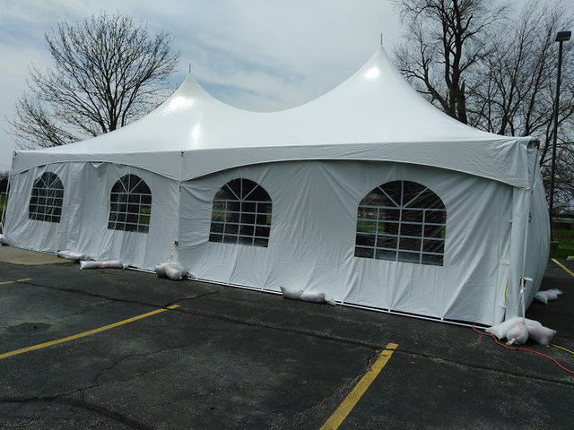 20x40 High Peak Tent With Sidewalls