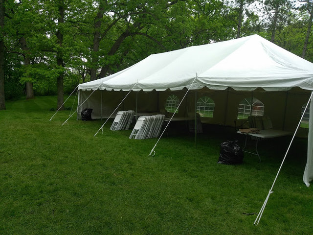 20x40 Pole Tent Package for 100 With Sidewalls