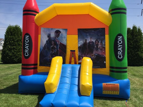 Justice League Large Bounce House With Basketball Hoop
