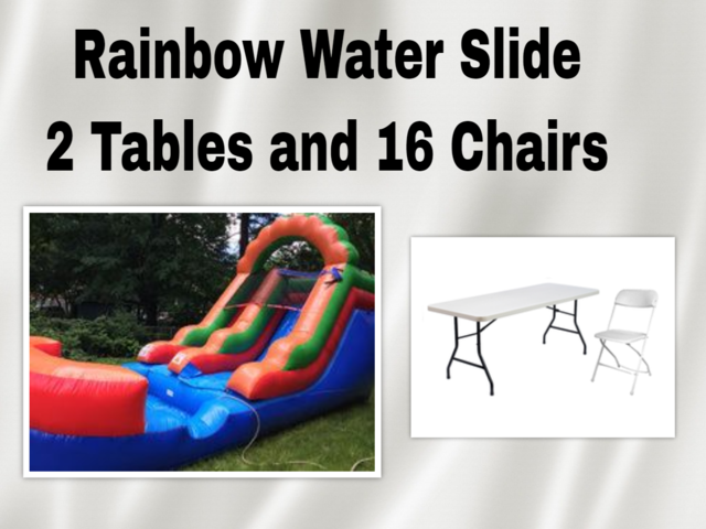 Rainbow Water Slide Party Package
