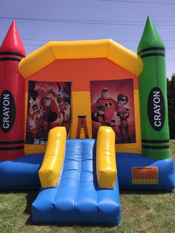The Incredibles Large Crayon Bounce With Basketball Hoop