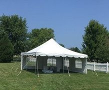 20x20 Pole Tent Package for 50 with Sidewalls