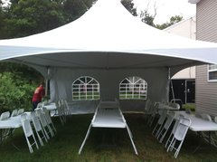 20x20 High Peak Tent Package for 50 with Sidewalls