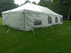 20x40 Pole Tent With Sidewalls