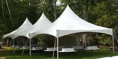 20x60 High Peak Frame Tent Package for 100 (Round Tables)