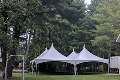 40x40 High Peak Frame Tent Package for 200