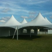 40x40 High Peak Frame Tent Package for 200 With Sidewalls
