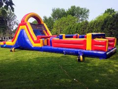 55 FT Obstacle Course W/ Double Lane Slide