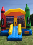 Cars Large Crayon Bounce House With Basketball Hoop