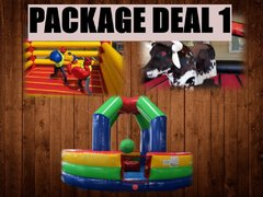 Mechanical Bull, Box&Bounce and 2in1 Wrecking Ball/Joust