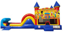 BRAND NEW! Happy Birthday Water Combo W/Basketball Hoop